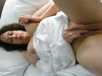 beautiful older MILF gets off