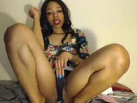 Ebony girl does a striptease