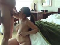 Asian milf is handling a cock