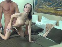 A blow job on the bed