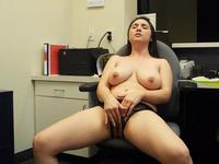 Big ass woman plays with herself