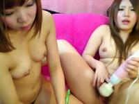 Asian woman uses her toy