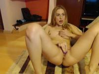 Sexy thing is teasing her wet pussy lips