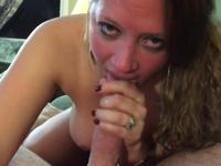 Hot woman kisses a cock