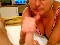 Milf is playing with a cock