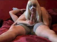 Blonde sucks cock and she is licked