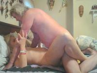 A mature blonde is fucked