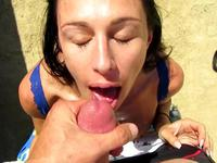 Perfect cock blowing in the desert