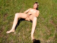 Milf strips outdoor