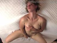 Curvy blonde masturbates on webcam
