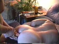 Fucked my wife in anal and cum on her ass