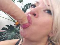 Horny blonde MILF is a sucker