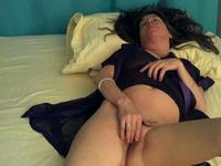 Pretty brunette milf wife is taken on video by lusty husband and share on web