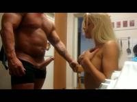 So pretty tattoe blonde wife make a hot sex fun with his lustful husband,damn!