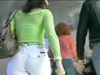 The best and sexy jeans video scenes of the sweet amateur that was caught in the crowd