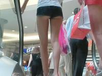 Two sweet long legged girls wearing shorts got on camera that was hidden in my cloths