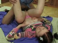 Lustful mature guy make fun with her loveliness young girlfriend in home,!damn!