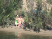 Spying on a hot couple outdoors