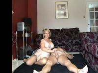 Big tit blonde in a 69 position