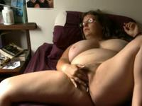 Pretty chubby brunette female make fun in front webcam and share in web,enjoy