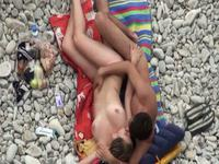 Sideways sex action on the beach