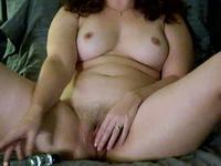So pretty brunette milf wife can't wait for cock and do this things in webcam