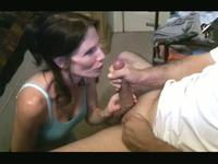 Horny milf sucks and takes an oral creampie