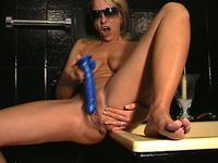 Blonde mommy is more than horny