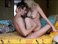 Blonde with nice knockers rides her man with passion
