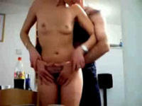 Hairy mature teasing her man before a mirror