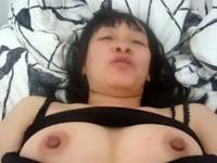 Juicy Asian girlfriend jacks her man off