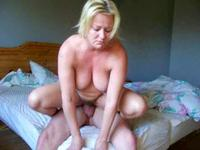 Blonde nanny busted by a muscular hunk